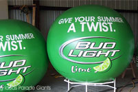 Bud Light Lime Helium Spheres