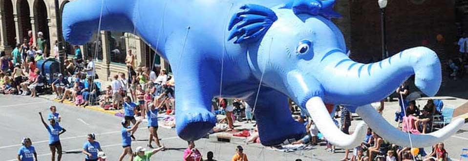 Mastodon Mascot Parade Balloon